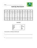 Earth Day Word Search with key vocabulary