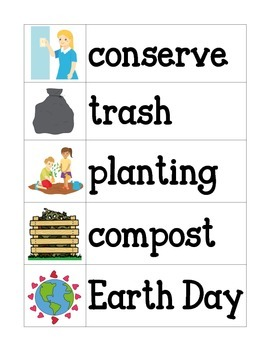 Earth Day Word Wall Cards