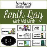 Earth Day Word Wall Words