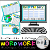 Earth Day Word Work Distance Learning