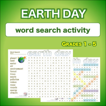 Earth Day * WordSearch * Vocabulary*   APRIL 22