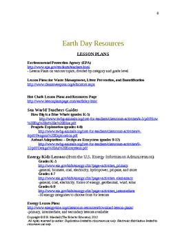 Earth Day Wordplay Fun and Resources