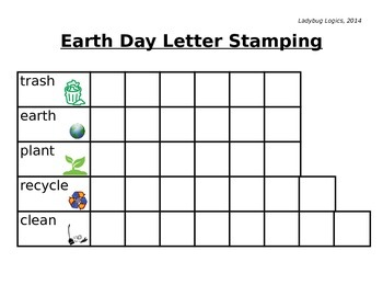 Earth Day Words Letter Stamping