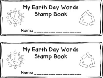 Earth Day Words Stamp Book