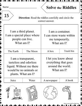 Earth Day Worksheets --- Included 8 activities