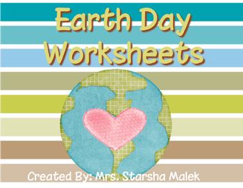 Earth Day Worksheets (S.Malek Freebie)