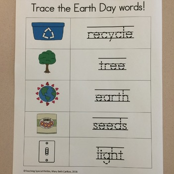 Earth Day Worksheets & Read and Color Book