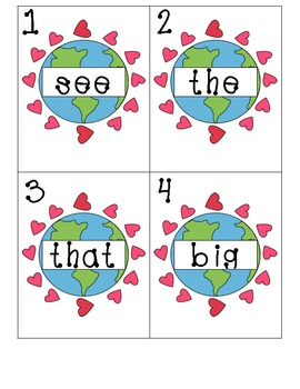 Earth Day Write Around The Room Sight Words