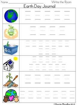 Earth Day Write / Stamp the Room Activity Pack