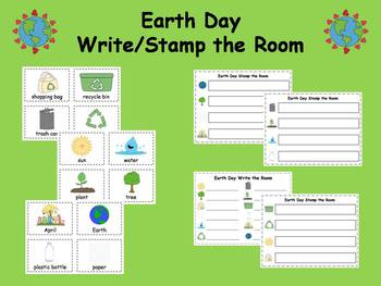 Earth Day Write and Stamp the Room