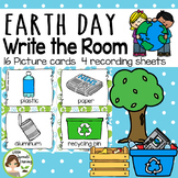 Earth Day Write the Room - 16 cards four versions, four recording sheets