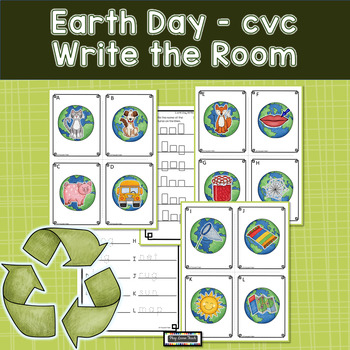 Earth Day Write the Room CVC