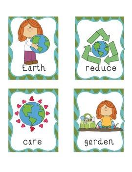 Earth Day Write the Room Primary Literacy Language Kindergarten