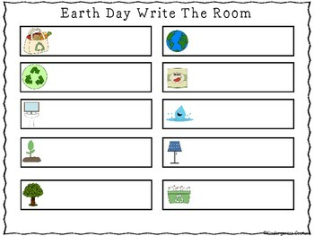 Earth Day Write the Room and poster resource