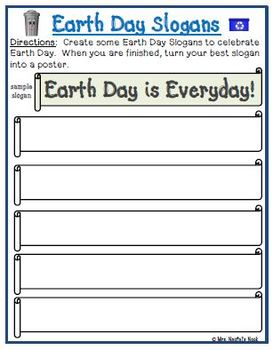 Earth Day Writing Activities - Lists, Poetry, Letter Writing