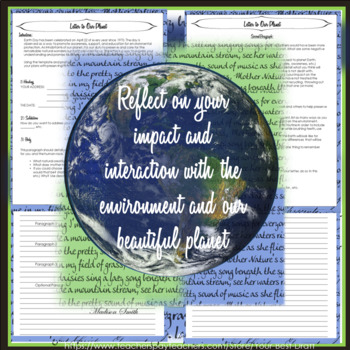 Earth Day Writing Activity: A Letter to Our Planet Earth