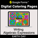 Earth Day: Writing Algebraic Expressions - Google Forms |