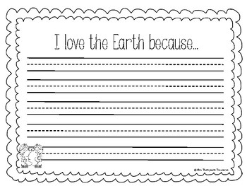 Earth Day Writing Crafts