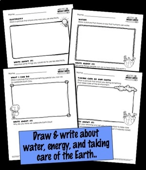 Earth Day Writing Draw and Write