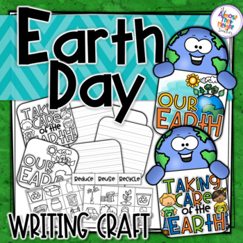 Earth Day Writing Flip Book Craft activity