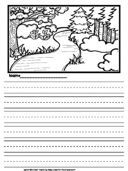 Earth Day Writing Ideas Kindergarten and Primary Lines