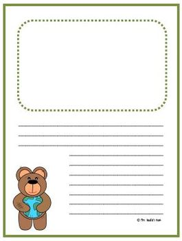 Writing Paper Templates - Earth Day Theme