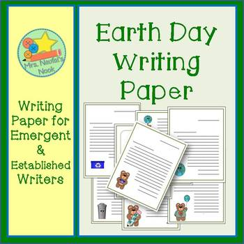 Earth Day Writing Paper for Emergent & Established Writers
