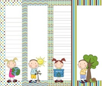 Earth Day Writing Paper - 3 Styles - ( 7 1/2 x 10 )
