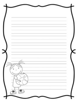 Earth Day Writing Paper - 3 Styles - Black and White