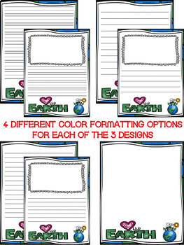 Earth Day Writing Paper--Earth Day Writing Stationary--DIFFERENTIATED
