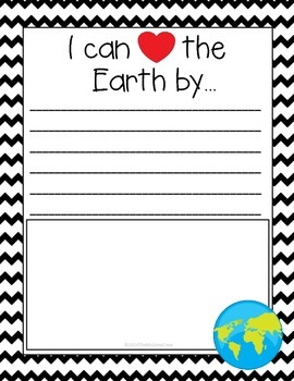 Earth Day Writing Paper FREE