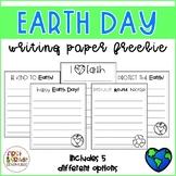 Earth Day Writing Paper *FREEBIE*