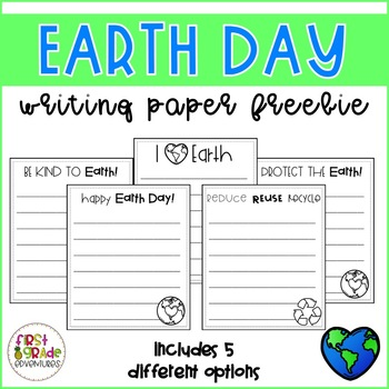 Earth Day Writing Paper *FREEBIE*