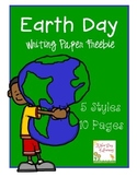 Earth Day Writing Paper FREEBIE