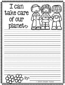 Earth Day Writing Paper Freebie