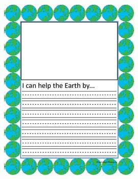 Earth Day Writing Papers and Task Cards