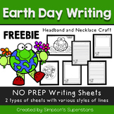Earth Day Writing Prompt FREEBIE - with Necklace and Headb