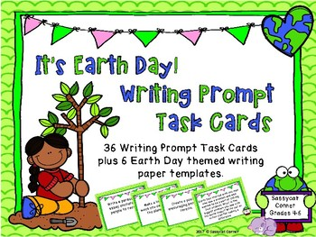 Earth Day Writing Prompt Task Cards