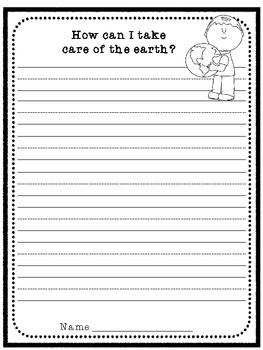 Earth Day Writing Prompt- ruled lines