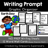 Earth Day Writing Prompt with Word Wall Cards