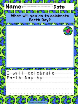 Earth Day Writing Prompts K-2