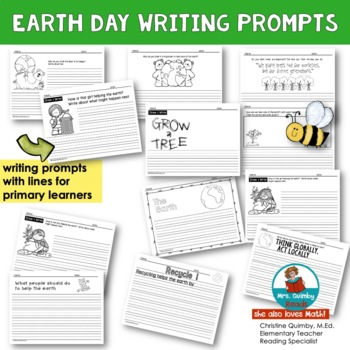 Earth Day - Writing Prompts and Printables - (Reading-Writing Pages)