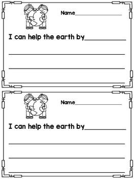 Earth Day Writing Response Sheets