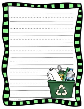 Earth Day  & Recycling Writing Sheets