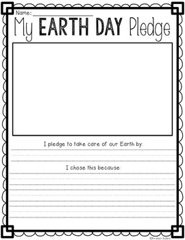 Earth Day Writing Webs and Drafts