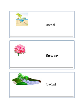 Earth Day Writing Words Sky Tree Sand Flower Pond Writing Journal Supplement 2p