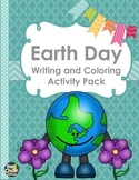 Earth Day Writing and Coloring Activity Pack