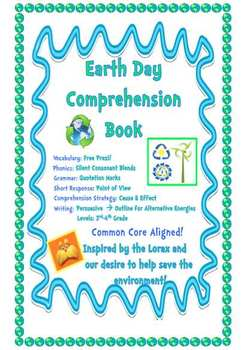 Earth Day Writing Book & Lorax Companion - Alternative Energies
