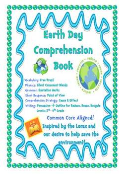 Earth Day Writing and Comprehension Book - Reduce, Reuse, Recycle