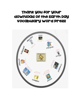 Earth Day Writing and Comprehension Book Vocabulary Presentation